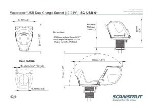 Waterproof-USB-Socket-Technical-Drawings